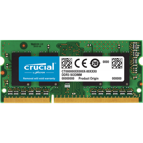 Crucial SODIMM DDR3 4GB PC3-12800 1600MHz CL11 1.35V (CT51264BF160B) pomnilnik