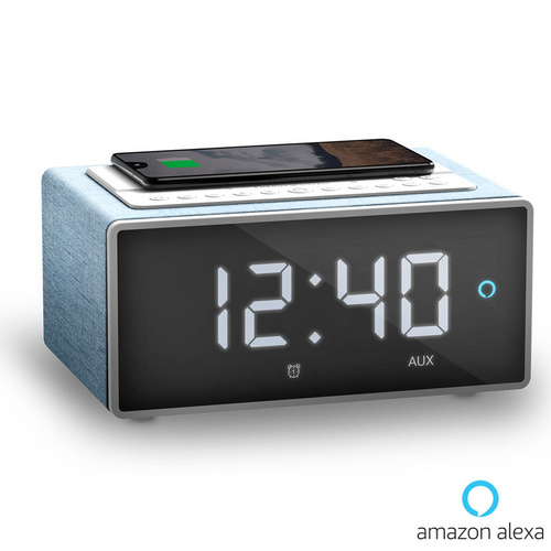 ENERGY SISTEM Smart Wake Up Alexa 3,5mm/Bluetooth/WiFi moder telefonski polnilec radijska budilka zvočnik