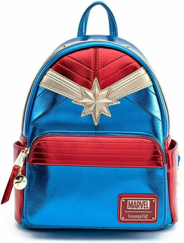 LOUNGEFLY LF MARVEL CAPTAIN MARVEL CLASSIC COSPLAY MINI NAHRBTNIK