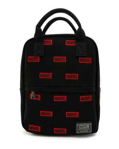 LOUNGEFLY LF MARVEL LOGO AOP CANVAS MINI NAHRBTNIK