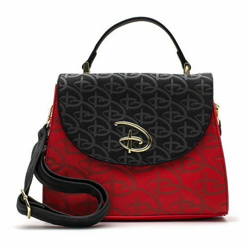 LOUNGEFLY LF RED/BLK DISNEY LOGO DEBOSSED TORBICA