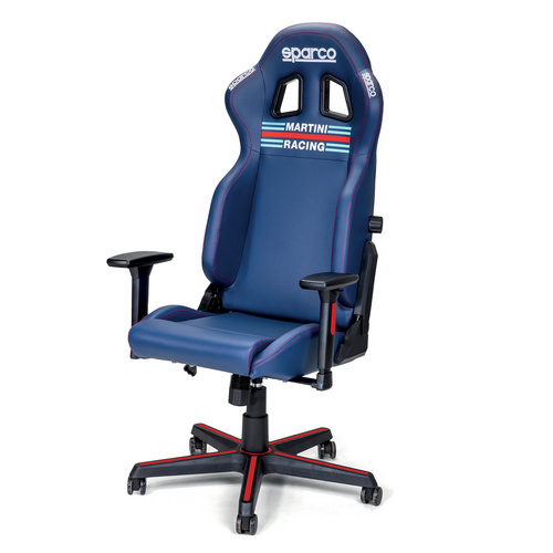 SPARCO ICON MARTINI RACING gaming stol modre barve